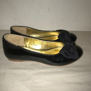 Janie and Jack patent leather with bow flats